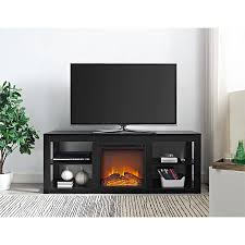 ameriwood home parsons electric fireplace tv stand for tvs up to 65 black com