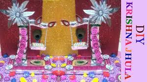 laddu gopal krishna jhula making janmashtami decoration ideas