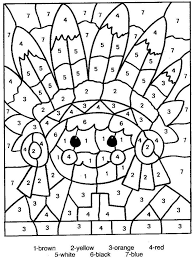 There are pictures of reindeer, a snowman, santa and more! Color By Number Free Printable Coloring Pages Activity Page For Kids For Thanksgiving And Aut Thanksgiving Coloring Pages Cool Coloring Pages Color By Numbers