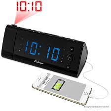 main electrohome usb charging projection alarm clock radio eaa475