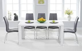 matt dining table sets on high gloss dining room furniture