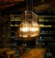Wine Bottle Light Fixture Wine Bottle Suspension Lamp This Etsy Shop Makes All Kinds Of