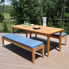 melbourne 5 ft 6 in picnic set teak picnic table with detached benches