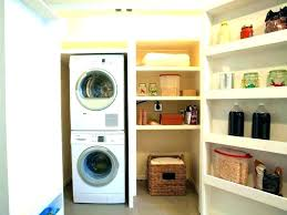 enchanting washer dryer cabinet laundry room stacked closet dimensions and