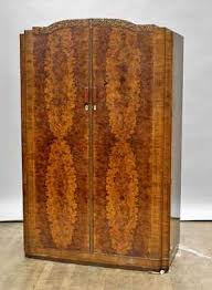 vintage art deco furniture. Art Deco Carved Wood Armoire Vintage Furniture G