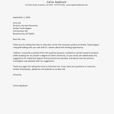 Thank You Letter For Job Opportunity Examples Format For Writing An Interview Thank You Letter