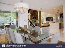 Modernes Interior Design Luxus Offene Esszimmer Mit Glas