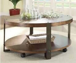design round wood coffee table rustic