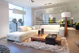 lounge room designs warm modern living room with rug and white sectional sofa lounge room