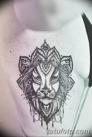 фото тату орнамент лев 10072019 001 Tattoo Ornament Lion