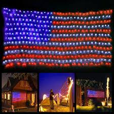 Blue Outdoor Lights Amazon Com Onemall American Flag 420 Led String Lights