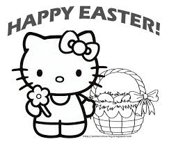 Hello Kitty Happy Easter Coloring Pages Ruva