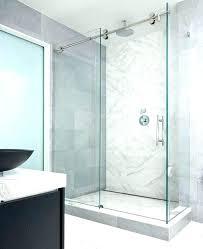 shower frameless glass sliding shower doors stylish enclosures modern bathroom awesome vision mirror door