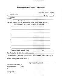 Rental Statement Form 14 Landlord Statement Form Free Word Pdf Format Download