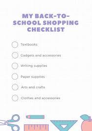 School Supplies List Template School Supplies List Template Magdalene Project Org