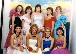 these awesome 80s gals have ruffles bows lace and wrist corsages galore