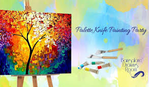 palette knife painting party by bangalore drawing room vasanth nagar