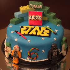Star Wars Lego Decorations Best Star Wars Lego Cake Ive Seen Luke Yoda Darth And Boba