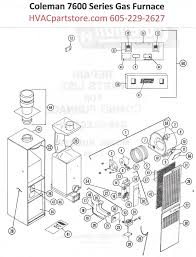 collections hvacpartstore 7654 856 coleman gas furnace parts