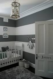 Grey Nursery   I Would Have To Add Touches Of Another Color But I Love The Grey  Striped Walls! I Would Go As Far As To Do The Bottom Black Stripe A ...
