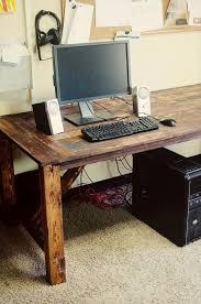Vintage And Old School DIY Work Desk In Dark Hue