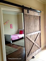 through to learn how to make your own diy sliding barn door