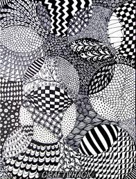 Zentangle Patterns Easy Unique Decoration
