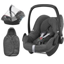maxi cosi pebble group 0 car seat bundle with raincover foot sparkling grey new 2018