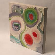 clobbered by picasso small abstract oil painting by marilyn fenn