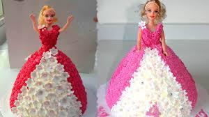How To Make Barbie Cake Design Easy Birthday Cake Decorations