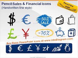 Powerpoint Financial Handwritten Ppt Sales Financial Symbols Pencil Sketch Dollar Doodle