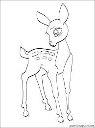 Kleurplaat Van Een Bambi In Al Zijn Glorie Gratis Kleurplaten