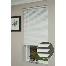 Shop Allen  Roth 25in Cordless White Faux Wood Room Darkening Room Darkening Window Blinds