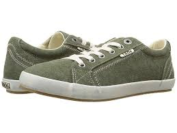 Taos Footwear Star Olive Wash Canvas Womens Lace Up