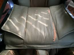 auto artisans inc leather upholstery repair massage chair before