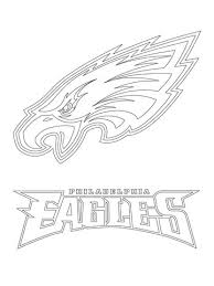Small Picture Philadelphia Eagles Logo coloring page Free Printable Coloring Pages
