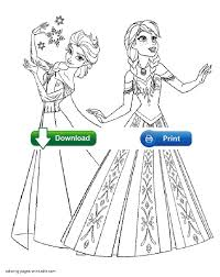 Small Picture Frozen Coloring Pages Web Image Gallery Elsa And Anna Coloring