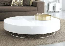 contemporary round coffee table white round coffee table stunning medium size of modern round inside white