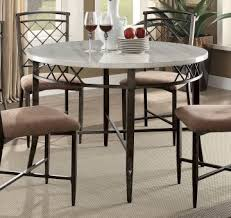 acme furniture aldric round leg dining table in faux marble antique 73000