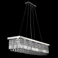 innovative long chandelier light long size rectangle crystal pendant light fitting crystal