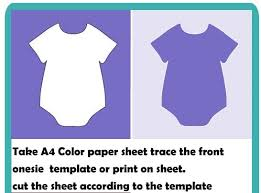 Baby Banners Template Make Onesie Banner For Baby Shower Homemade Baby Shower Decoration