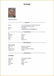 Basic Sample Resume 100 format for resume of job application Basic Job Appication Letter 71