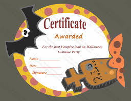 School Certificate Templates Extraordinary Most Frightening Halloween Award Certificate Template