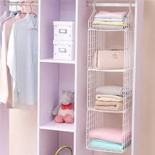 diy hanging closet storage clothes books rack neat closets hollow holder foldable multilayer hanger household clothing organizer hangers racks