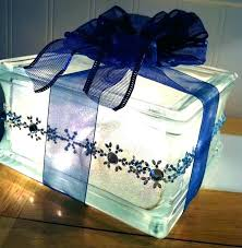 how to decorate glass blocks decor with block present lighted my crafts for wedding ligh glass block