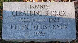 Geraldine Rowena Knox (1922-1923) - Find A Grave Memorial
