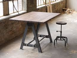 handmade industrial kitchen table set