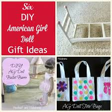 collage of diy american girl doll projects