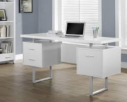 sleek office desk. monarch specialties white hollowcoresilver metal office desk sleek and contemporary this is the perfect combination of function f