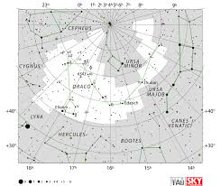 Draco Constellation Facts Myth Stars Location Star Map